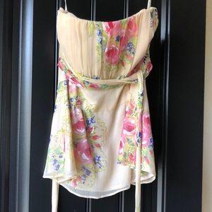 Nanette Lepore 2 strapless silk top